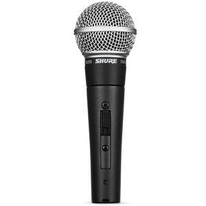 SHURE SM58S Micrófono dinámico para voces, incluye interruptor encedido/apagado