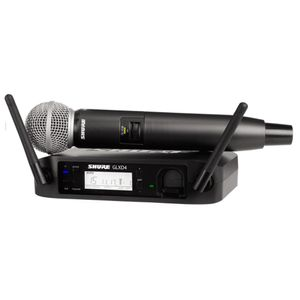 Shure GLXD24 / SM58 Sistema vocal inalámbrico digital con micrófono vocal SM58